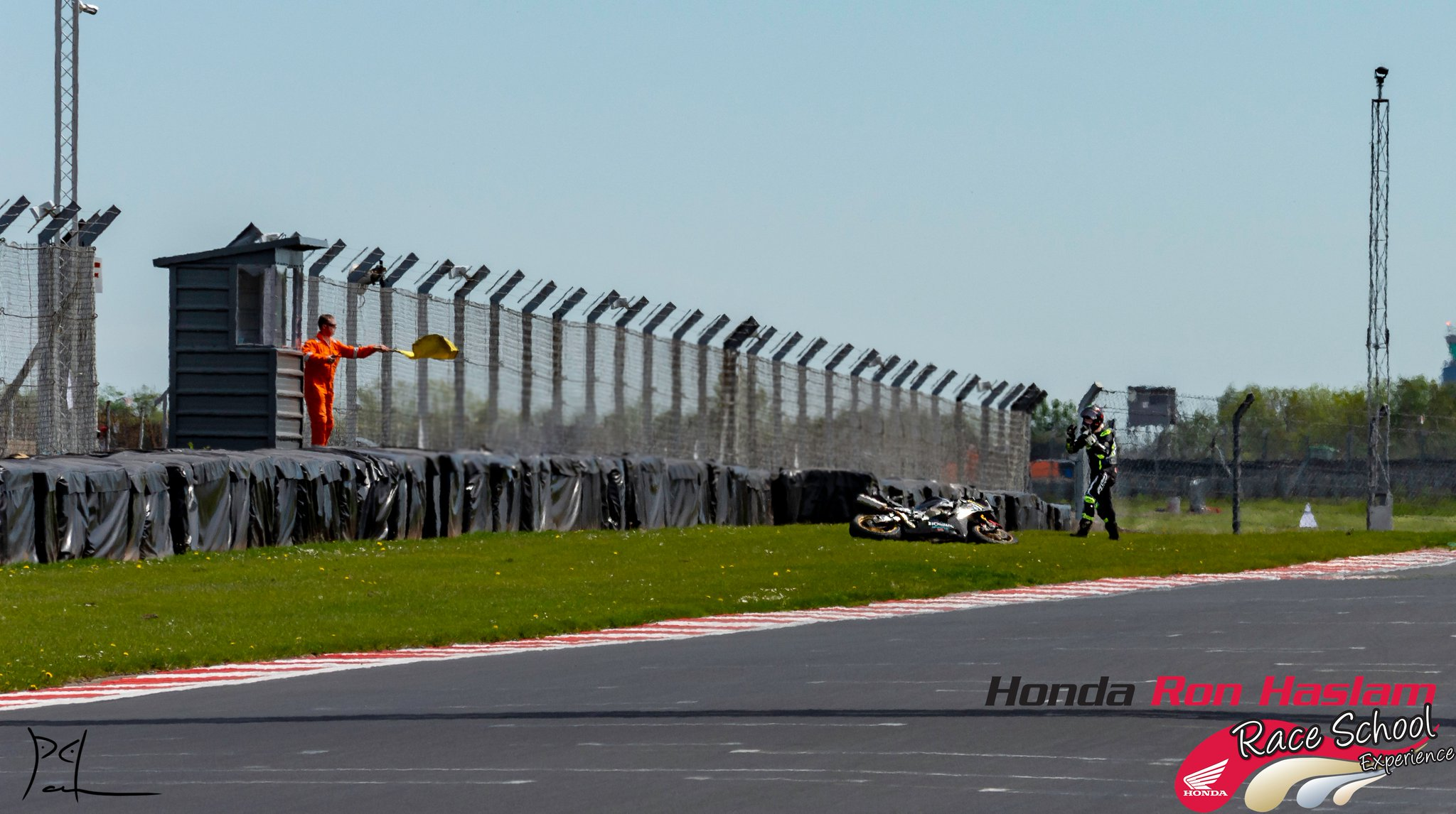 Ron Haslam race school crash