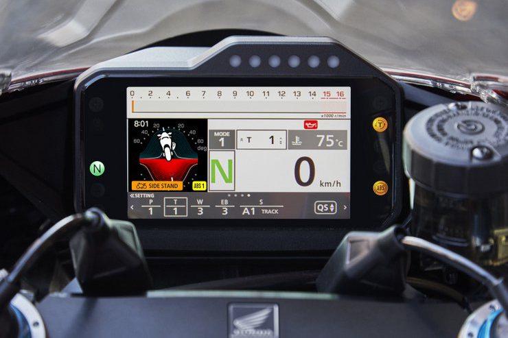 2020 Fireblade dashboard