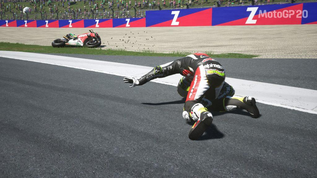 Moto GP20 crash
