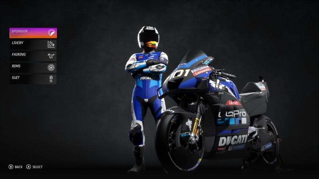 Moto GP20 Custom teams