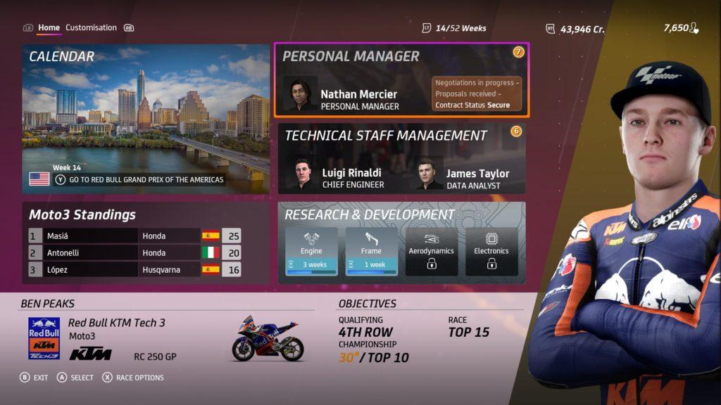 Moto GP20 Career
