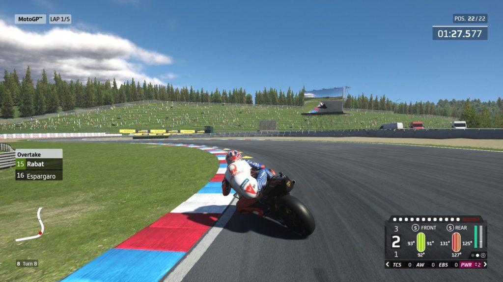 Moto GP20 tyre wear