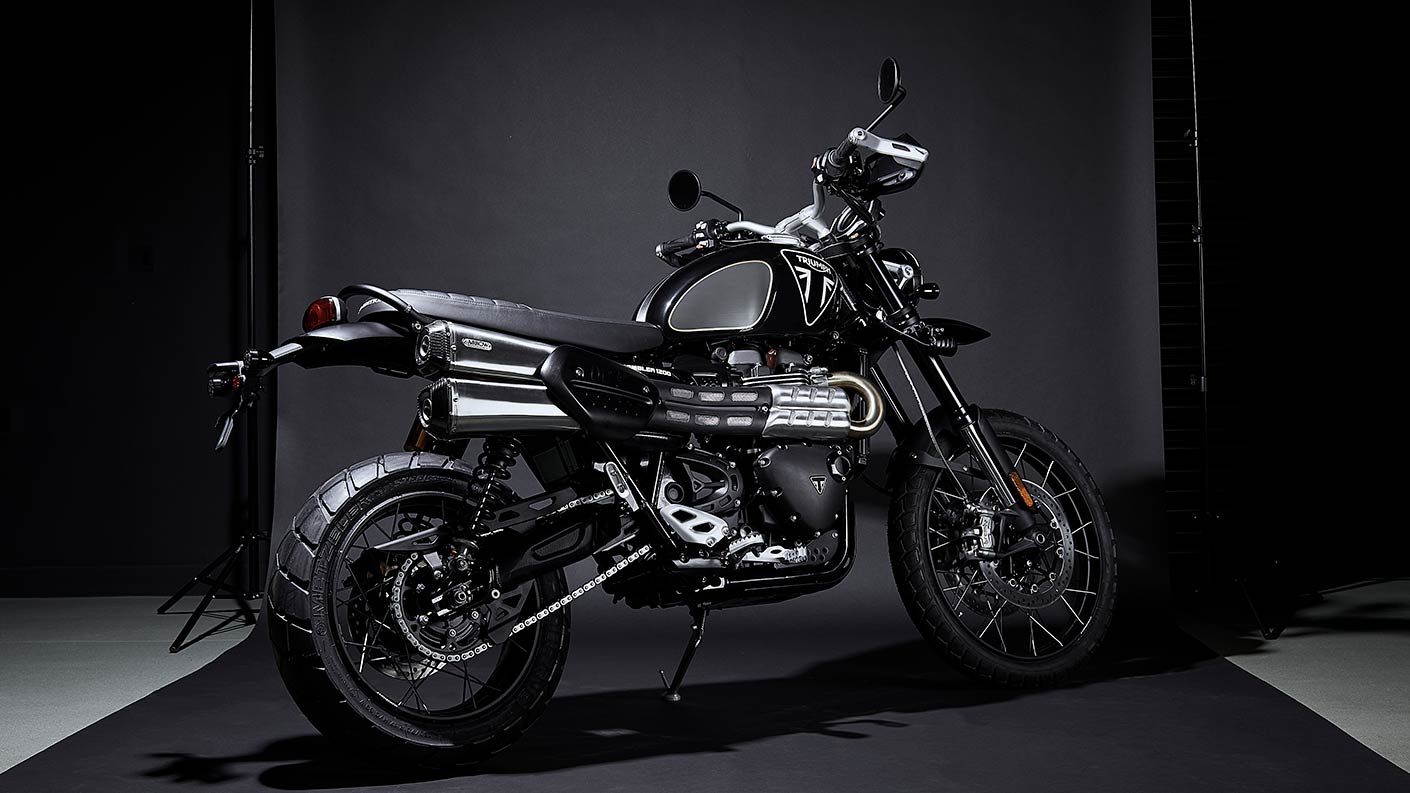 No Time To Ride; Triumph Scrambler inspired by 007.