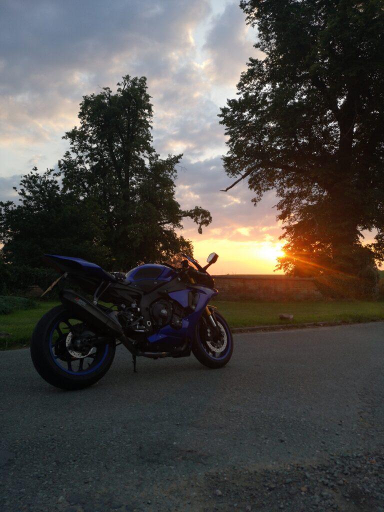 golden hour motorcycle